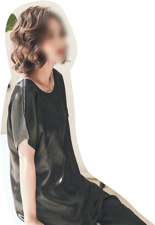 JKHOIUH Conjunto de Pijama de Mujer de Manga Corta Pantalón Corto ...