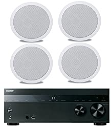 Sony 5 2 Channel 725 Watt 4k A V Home Theater Receiver Polk Easy To Install High Performance Surround Sound 8 2 Way In Ceiling Speaker System Set Of 4