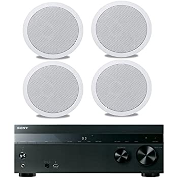 sony 5 2 channel 725 watt 4k a v home theater receiver polk easy to install high. Black Bedroom Furniture Sets. Home Design Ideas