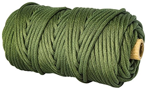 TOUGH-GRID 750lb Camo Green Paracord/Parachute Cord - Genuine Mil Spec Type IV 750lb Paracord Used by The US Military (MIl-C-5040-H) - 100% Nylon - Made in The USA. 50Ft. - Camo Green by TOUGH-GRID (Image #1)