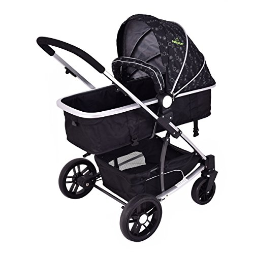 MD Group Baby Stroller 2-In-1 Foldable Aluminum Alloy Black Oxford Switchable Kids Travel by MD Group (Image #3)