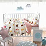 Aihome 3 PCS Nordic Mashup Baby's Bedding Pure Cotton Children's Bed Sheet Quilt Cover Pillowcase Set