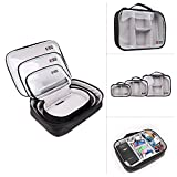BUBM 3pcs/set Waterproof Universal Electronics Accessories Travel Organizer Carrying Case Camera Lens Charger Cable Organiser Triple Set(Large, Medium, Small)BUBM 3pcs/set Waterproof Universal Electronics Accessories Travel Organizer Carrying Case Camera Lens Charger Cable Organiser Triple Set(Large, Medium, Small) (Clear)