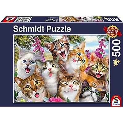 Schmidt 58391 Jigsaw Puzzle Cat Selfie (500 pcs): Toys & Games