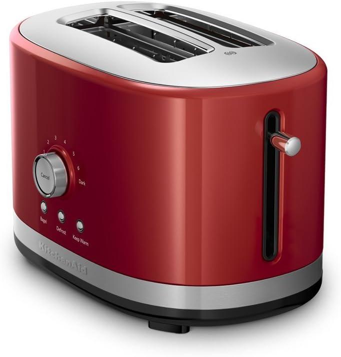 KitchenAid 2-Slice Long Slot Toaster | Empire Red (Renewed)