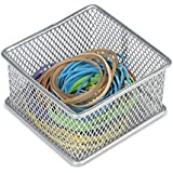 Ybm Home Silver Mesh Drawer Cabinet and or Shelf Organizer Bins, School Supply Holder Office