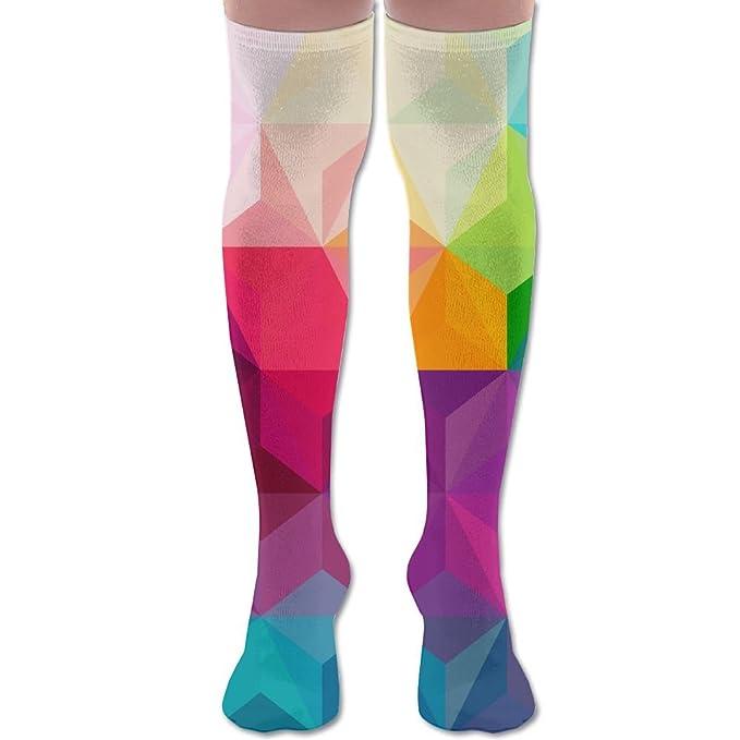 Amazon.com  Rainbow Love Knee High Compression Socks Comfortable Tie Dye  Pregnancy For Women Long Socks  Clothing accc5934d