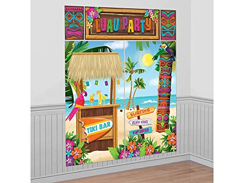 Amscan Tiki Party Scene Setters Wall Decorating Kit ()