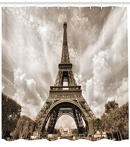 Ambesonne Paris Decorations Collection, Eiffel Tower UNESCO World...