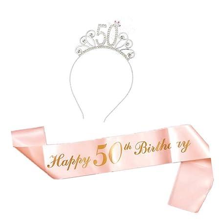 Ayioo Feliz Cumpleaños Traje Incluye Tiara Cristal ...