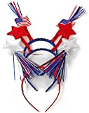 Sea View Treasures 6 Bulk Patriotic Head Bopper Party Hats - Ideal for 4th of July Party Favors, Memorial Day BBQ, Fourth of July Parades or Fireworks, or Any Independence Day Event