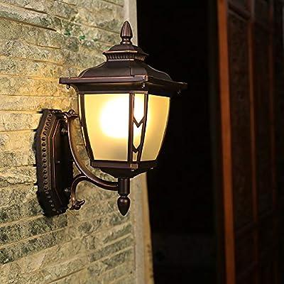 ZXF Lámpara De Pared Impermeable Retro Corredor LED Balcón Luz De Escalera Al Aire Libre Lámpara De Pared Pasillo Patio Al Aire Libre Dulzura: Amazon.es: Hogar