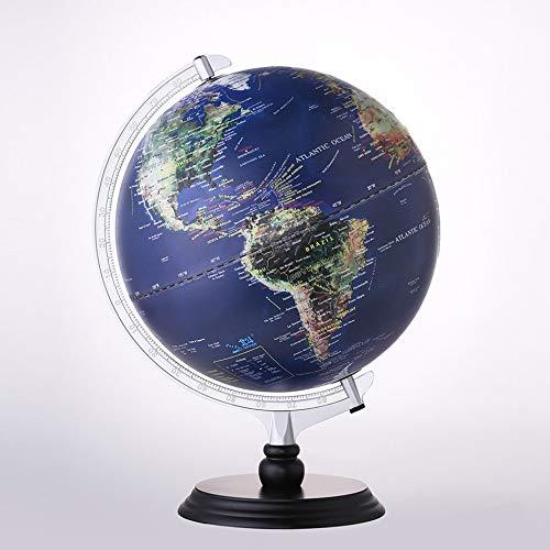 Mountxin Beleuchtete Welt Erde Globus Glowing Globe LED Nachtsicht Nachtlicht Geographie-pädagogisches Spielzeug-Kind-Geschenk - G1201-Ls