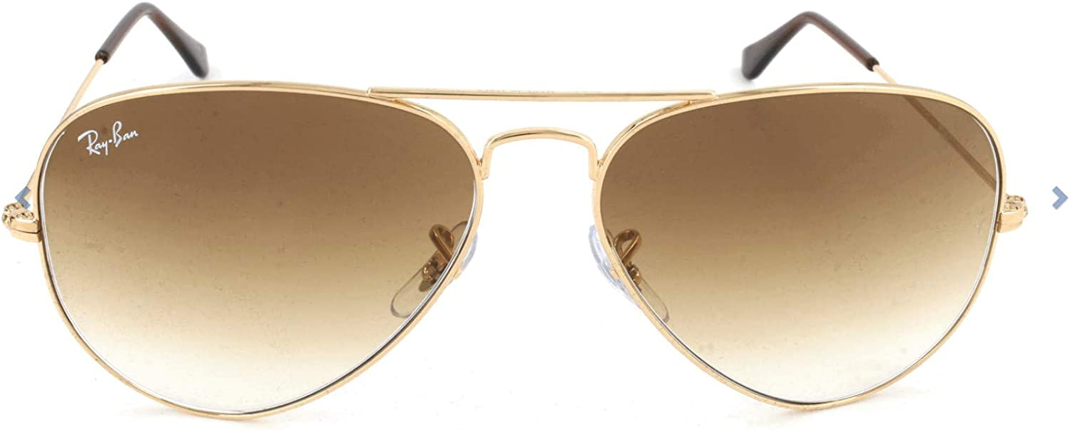 Ray-Ban - Gafas de sol Aviador RB3025 Aviator Large Metal, Brown