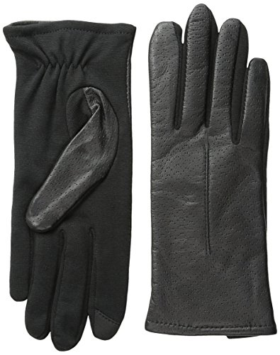 Touchpoint Women's Stretch Palm Leather Glove with Technology, Black, Small/Medium