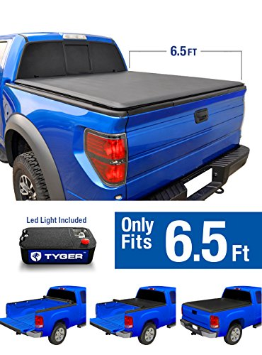 Tyger Auto TG-BC1D9014 TOPRO Roll Up Truck Bed Tonneau Cover 2002-2018 Dodge Ram 1500; 2003-2018 Dodge Ram 2500 3500 | Fleetside 6.5' Bed | For models without Ram Box (Truck Tailgate 2500 1500)