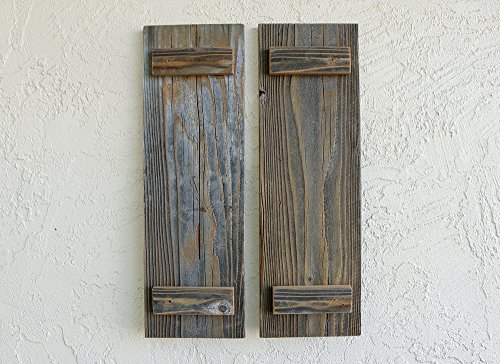 Rustic Reclaimed Wood Shutters (Set of 2). 30x7.5in