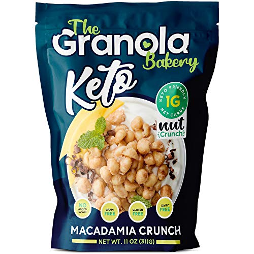 The Granola Bakery Keto Candied Macadamia | Low Carb Keto Nut Snack | 2g Net Carb, Low Sugar | Small Batch, Hand Crafted | Cinnamon