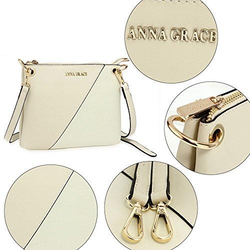 3 Over Beige Shoulder New Design Handbag Bags Messenger Womens Cross Crossbody Ladies Body PF1xBq66