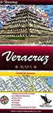 Veracruz, Mexico, State and Major Cities Map (Spanish Edition)