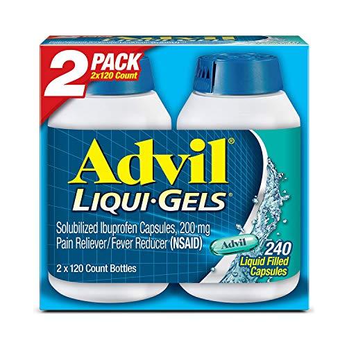 (Advil Liqui-Gels (240 Count) Pain Reliever/Fever Reducer Liquid Filled Capsule, 200mg Ibuprofen, 240 Count       )