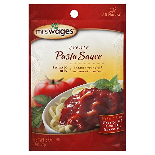Mrs. Wages Pasta Sauce Tomato Seasoning Mix, 5 Oz. Pouch (Pack of 4)