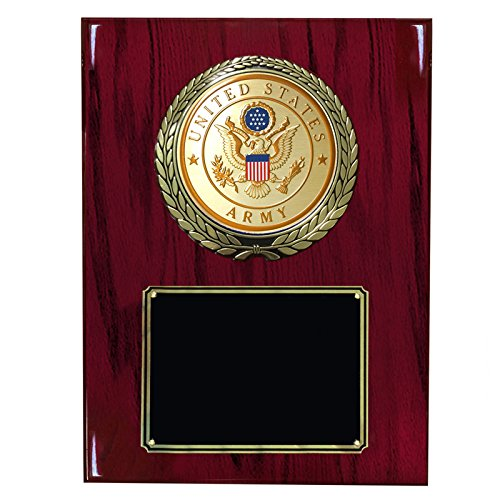 Cherry Piano Finish Plaque with U.S. Army Medallion