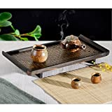 Wall of Dragon Hotel Household Serving Tray Bamboo Creative Fruit Tea Food Dinner Plate 3 Sizes