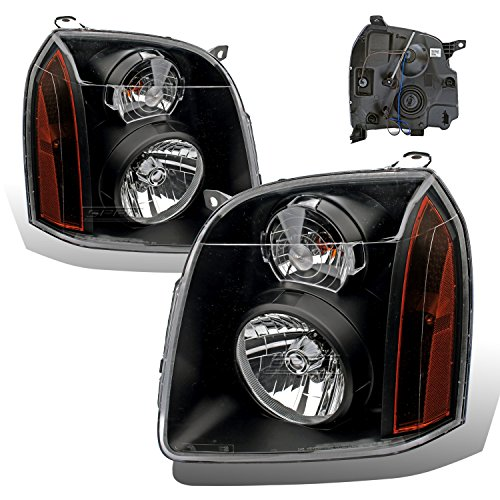 SPPC Black Headlights For GMC Yukon/Yukon XL/Denali (Pair) High/Low Beam Bulb Included Driver Left and Passenger Right Side Replacement