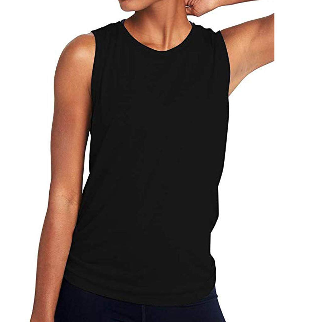 Mlide Mujeres Yoga Lindo entrenamiento de Malla Camisas Activewear Sexy espalda abierta Deportes Tank Tops Black by Mlide (Image #2)