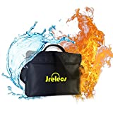 Fireproof Document Bag,Jrelecs Fireproof Waterproof Document Money File Bag Pouch with Non-Itchy Silicone Coated Fiberglas, Fireproof Safe Storage for Document Cash Passport Bank Card Valuables