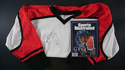 Wayne Gretzky Signed Autographed Hockey Practice Jersey + Commemorative SI Magazine - COA Matching Holograms