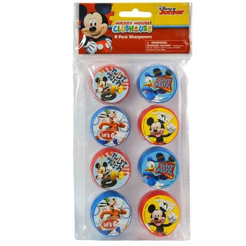 Disney Mickey Mouse 8pk Round Sharpeners (Mickey Mouse Round)