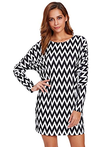 Zig Zag Print Dress - 7