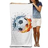 JHDHVRFRr Bath Towel Soccer Logo Creative Patterned Soft Beach Towel 31''x 51'' Towel Unique Design