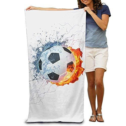 JHDHVRFRr Bath Towel Soccer Logo Creative Patterned Soft Beach Towel 31''x 51'' Towel Unique Design by JHDHVRFRr