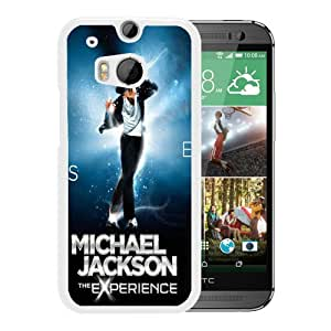 Popular Custom Designed Cover Case With Michael Jackson The Experience White For HTC ONE M8 Phone Case