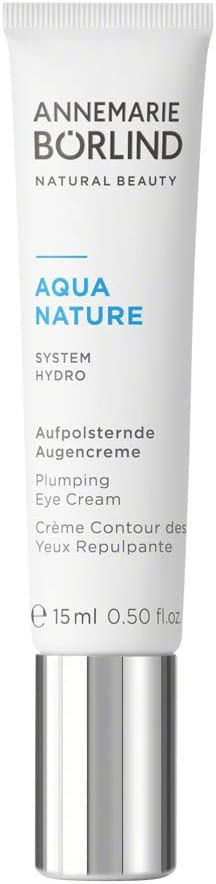 ANNEMARIE BÖRLIND - AQUANATURE Plumping Eye Cream - Botanical Extracts for Wrinkles and Hydration - Moisturizing, Regenerating, Plumping - 0.50 Fl Oz