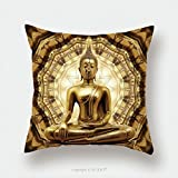 Custom Satin Pillowcase Protector Thai Golden Buddha On Oriental Gold Ornament Texture Background 159260216 Pillow Case Covers Decorative