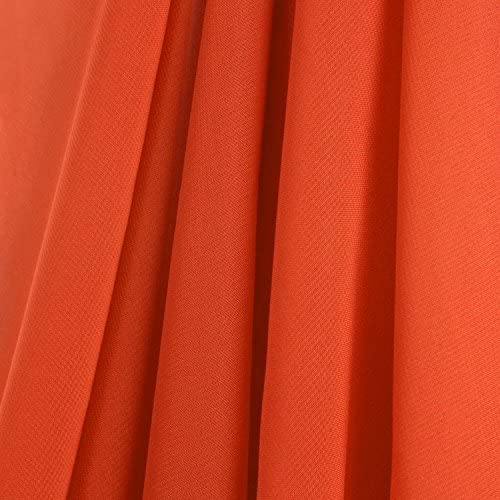 AK-Trading 115″ x 120″ Orange Chiffon Drapes Panel