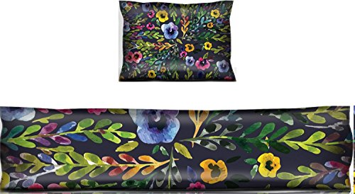 Luxlady Mouse Wrist Rest and Keyboard Pad Set, 2pc Wrist Support ID: 43000615 Watercolor seamless pattern with pansies Background for web pages wedding invi -