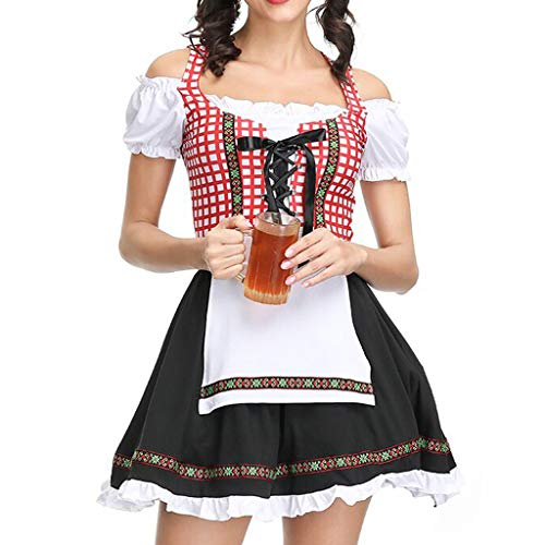 Togethor Midi Dirndl Dress Authentic Bavarian Floral Exlusive Long German Party Oktoberfest Waitress Dress Black -