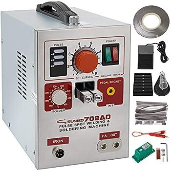 Mophorn 709A Pulse Spot Welder 0.3mm Battery Welding Machine 110V Battery Spot Welder /& Soldering Station Portable Pulse Welding Machine For Battery Pack 18650 14500 Lithium Batteries