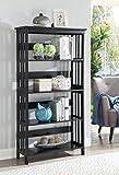 Convenience Concepts Mission 5-Tier Bookcase, Black