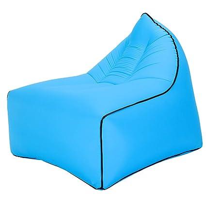 Amazon.com: Sofá hinchable de aire Lazy, tumbona portátil ...