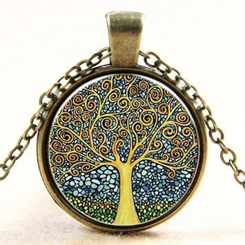 Lemonc The tree of life time ruby pendant necklace]()