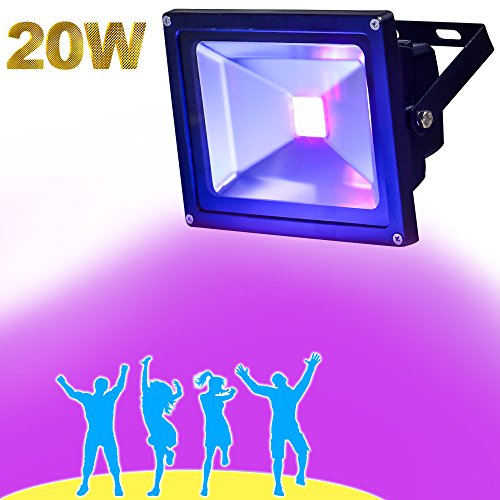 High Power Uv Led (YQL Outdoor Blacklight,High Power 20W UV LED Flood Light for DJ Disco Club,Night Clubs,UV Light Glow Bar,Birthday Parties,Blacklight Party,Aquariums and Other Entertainment Venues Stage Lighting)