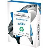 Hammermill Great White 30% Recycled 20lb Copy Paper, 8.5 x 11, 1 Ream, 500 Sheets, Made in USA, Sustainably Sourced From…