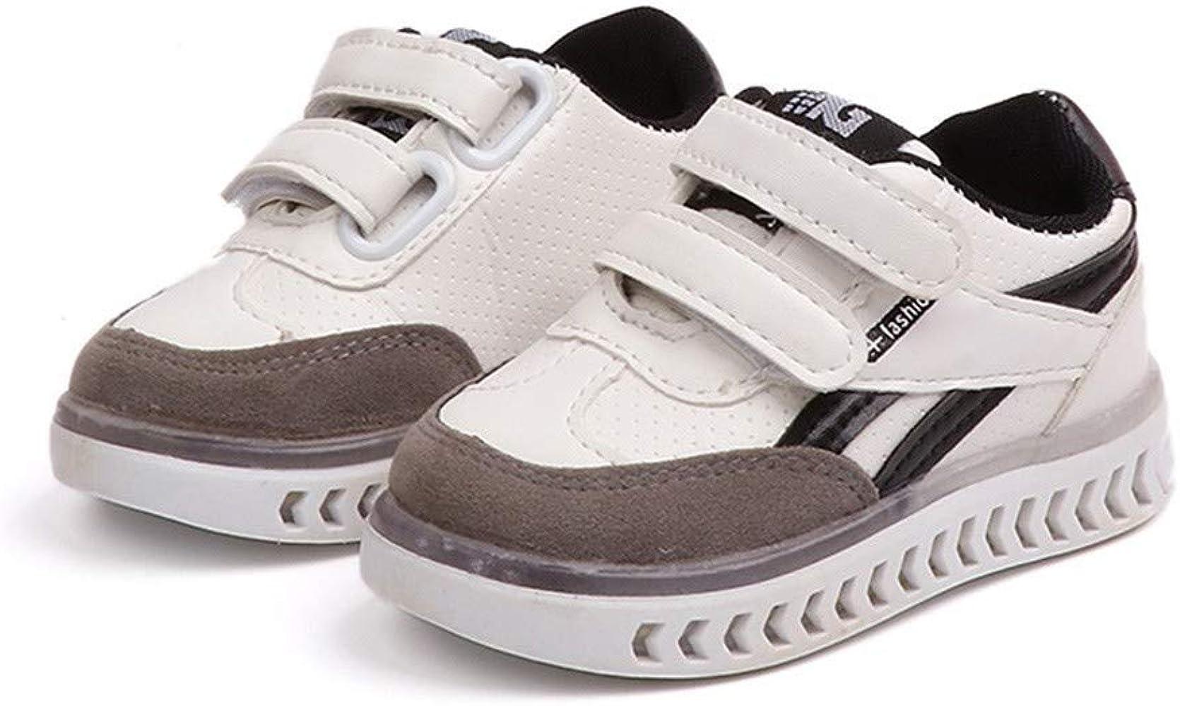 JUNMAONO Linda Zapatos con Luce niños del Modelo del Acoplamiento ...