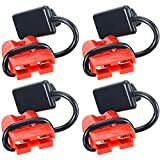 Battery Quick Connect/Disconnect Wire Harness Plug Kit for Recovery Winch Auto Car or Trailer Driver Electrical Devices - 12-36V DC, 50A, 6-8 Gauge